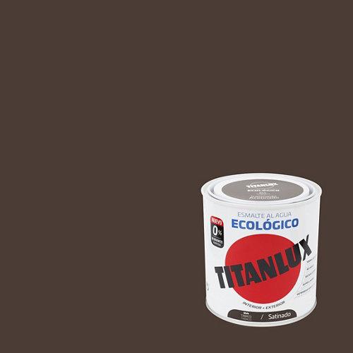 Esmalte de agua titanlux tabaco satinado 250 ml