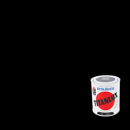 Esmalte de agua titanlux negro mate 250 ml