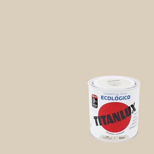 Esmalte de agua titanlux blanco piedra mate 250 ml