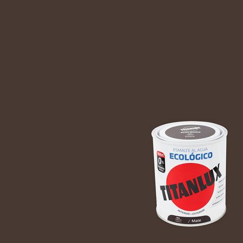 Esmalte de agua titanlux tabaco mate 250 ml