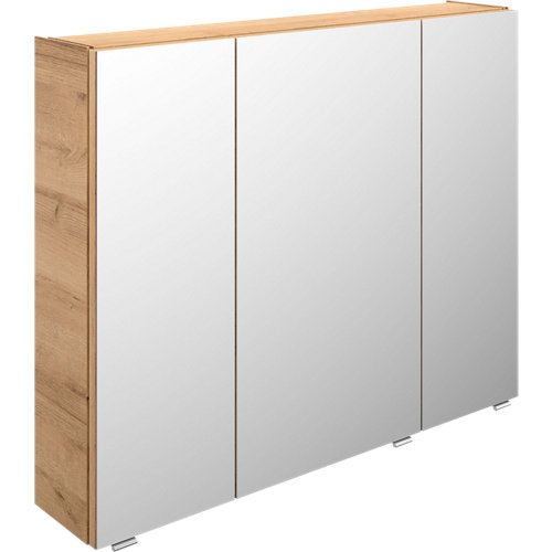 Armario de baño con espejo image roble 90 cm