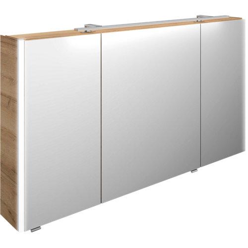 Armario baño con espejo maroni image 130 cm 3 puertas