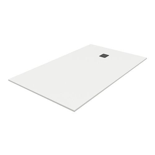 Plato ducha rectangular pietra 170x70 cm blanco