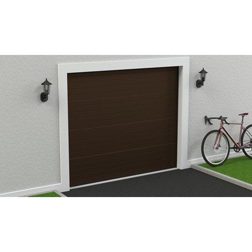 Puerta garaje seccional motorizada ral 8014 250x212,5