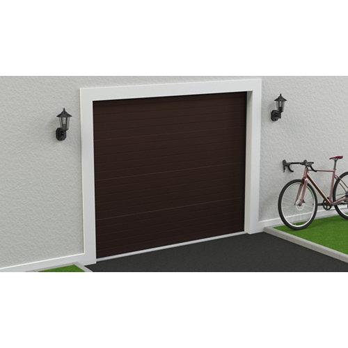 Puerta garaje seccional motorizada ral 8017 250x212,5