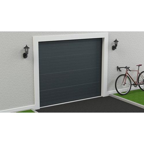 Puerta garaje seccional motorizada ral 7011 250x212,5