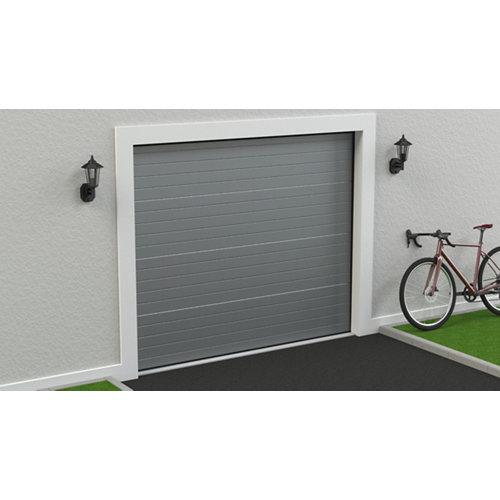 Puerta garaje seccional motorizada ral 9006 250x212,5