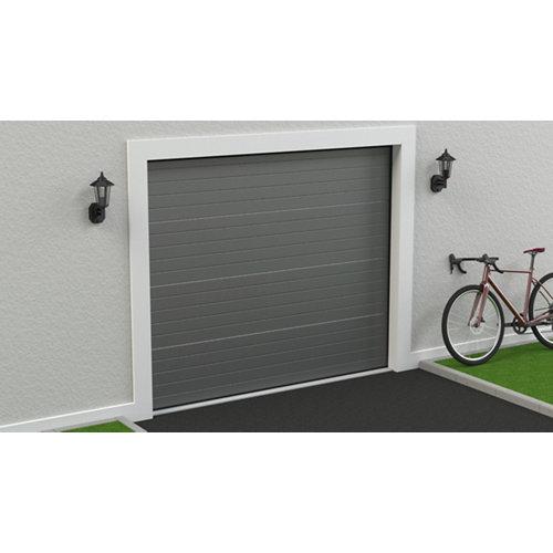 Puerta garaje seccional motorizada ral 9007 250x212,5