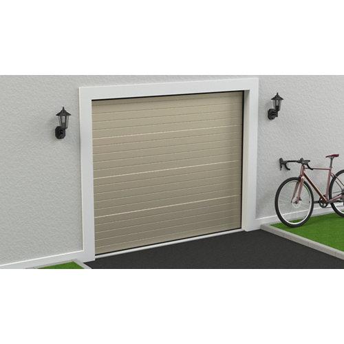 Puerta garaje seccional motorizada ral 1015 250x212,5