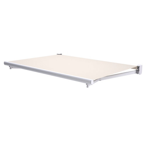 Comprar Toldo tarifa brazo extensible manual blanco y tela beige de 3x2m