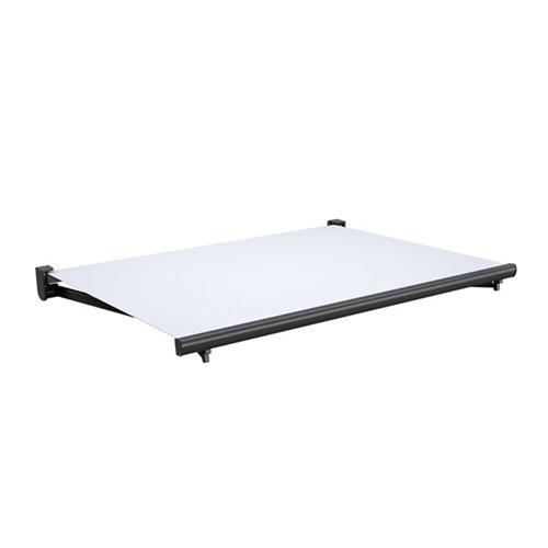 Comprar Toldo tarifa brazo extensible motorizado gris y tela gris 6x3m