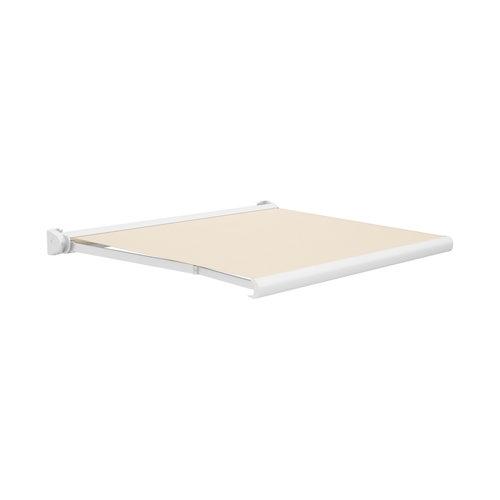 Comprar Toldo ibiza brazos extensible manual con cofre blanco y tela beige 5x3m