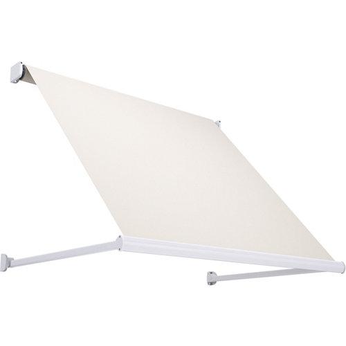 Comprar Toldo marbella brazo punto recto motorizado sin cofre blanco y tela beige 2x1m