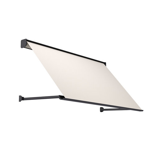 Comprar Toldo menorca brazo punto recto motorizado con cofre gris y tela beige 1,5x1m