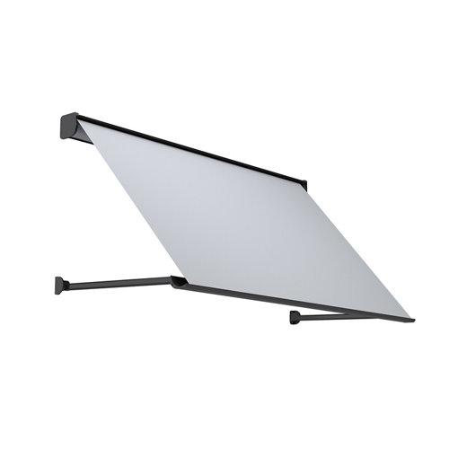 Comprar Toldo menorca brazo punto recto motorizado con cofre gris y tela gris 1,5x1m