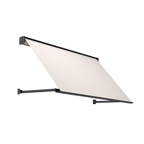 Comprar Toldo menorca brazo punto recto motorizado con cofre gris y tela beige 5x1m