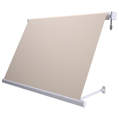 Comprar Toldo sitges brazo estor manual color blanco con tela beige de 2,5x2.5m