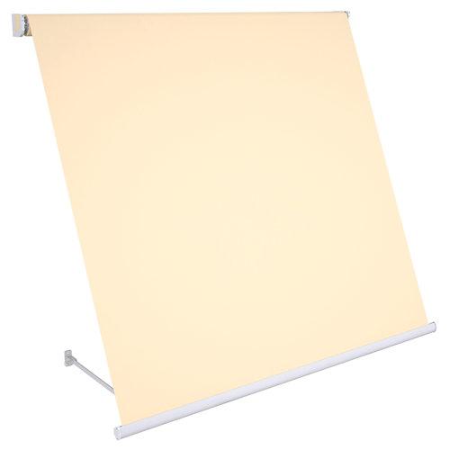 Comprar Toldo sitges brazo estor manual color gris con tela café de 3,5x2.5m