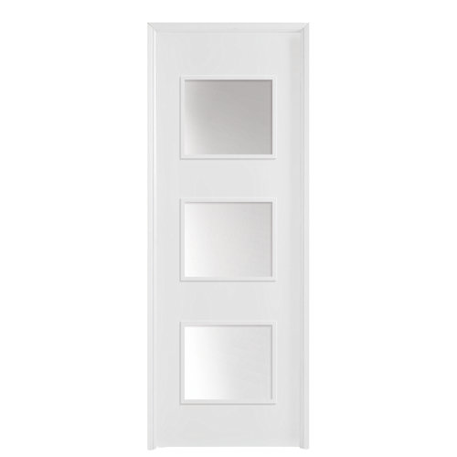 Puerta con cristal bari plus blanca 9x72,5 cm d