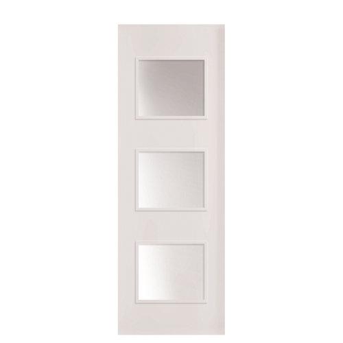 Puerta corredera con cristal bari plus blanca 82,5 cm