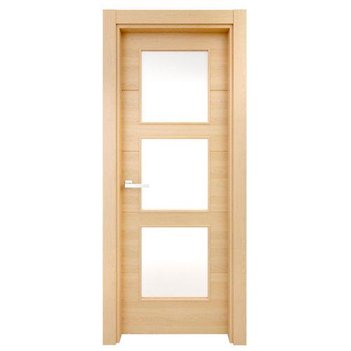 Puerta acristalada berna roble miel 130x82,5 cm i