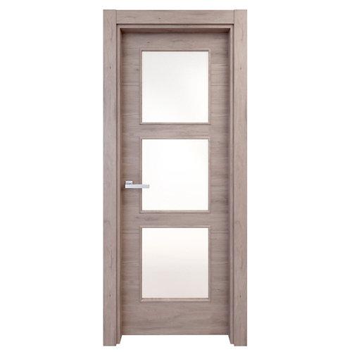 Puerta acristalada oslo roble gris 110x62,5 cm i