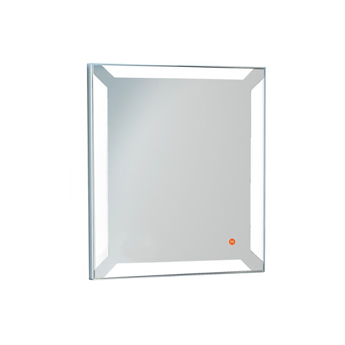 Espejo de baño con luz led einar acero 80 x 60 cm
