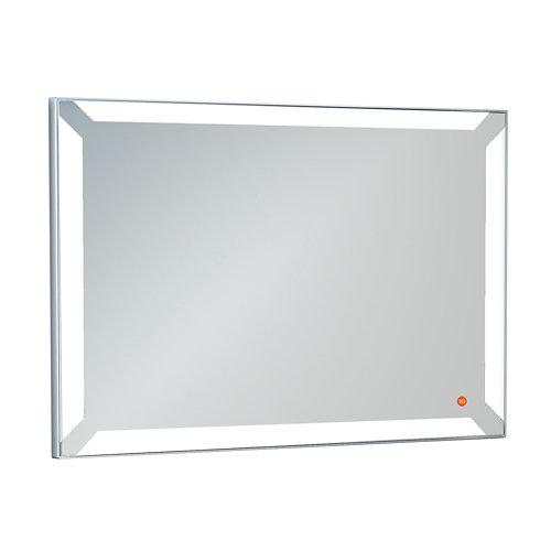 Espejo de baño con luz led einar negro 104 x 85 cm