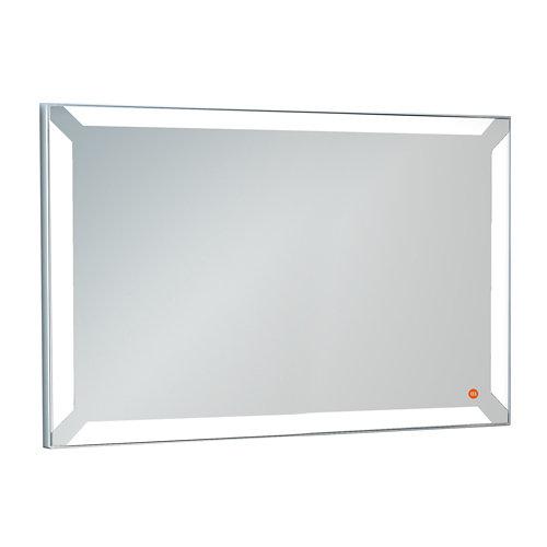 Espejo de baño con luz led einar acero 125 x 85 cm