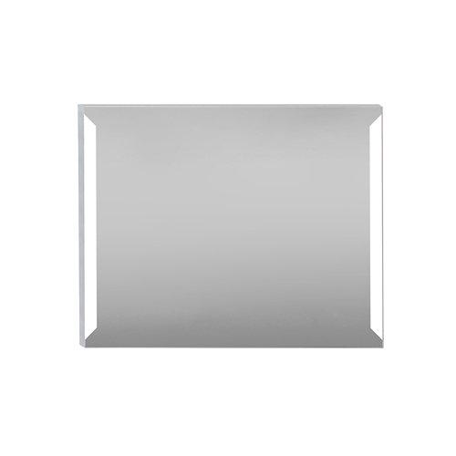 Espejo de baño con luz led edda steel 100 x 80 cm
