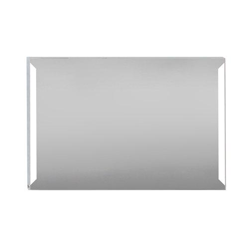 Espejo de baño con luz led edda steel 120 x 80 cm