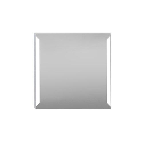 Espejo de baño con luz led edda steel 80 x 80 cm