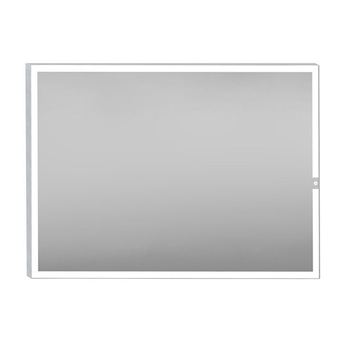 Espejo de baño con luz led yael steel 120 x 80 cm