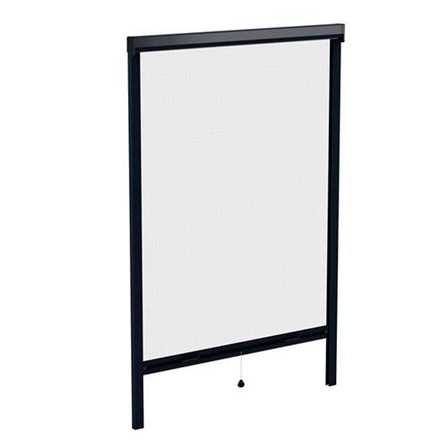 Mosquitera enrollable color gris 7016 para ventana de 140x140 cm (ancho x alto)