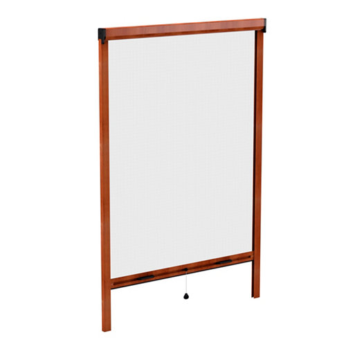Mosquitera enrollable roble 160 x 160 cm