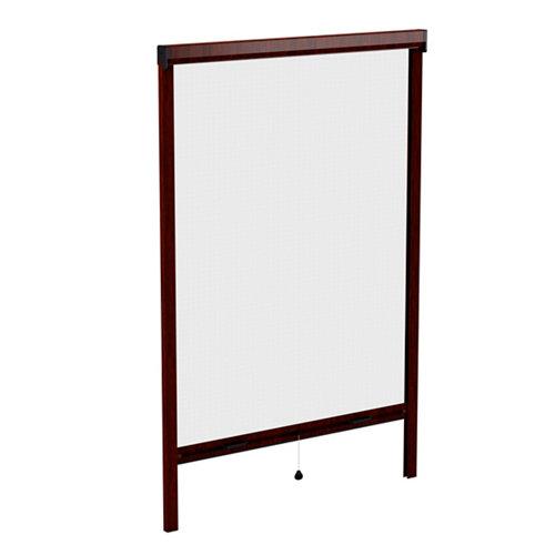Mosquitera enrollable color nogal para ventana de 160x160 cm (ancho x alto)