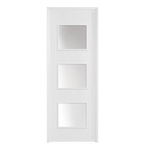 Puerta con cristal bari plus blanco izquierda 9x82,5 cm