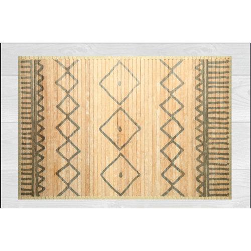 Alfombra de interior beige bambú kenia grecas 160 x 230cm