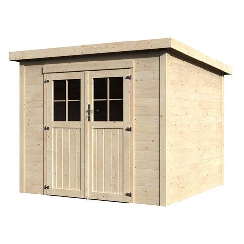 Caseta de madera favil de 250x202x253 cm y 6.35 m2