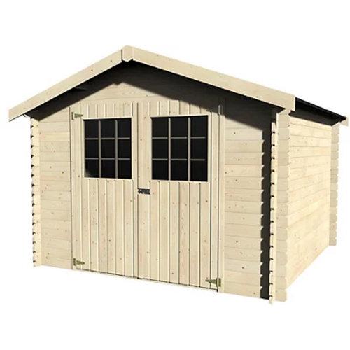 Caseta de madera lesal de 317x232x313 cm y 9.92 m2