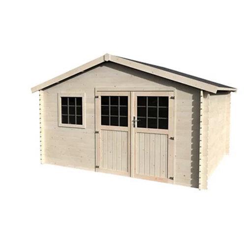 Caseta de madera arce de 427.3x251x330.5 cm y 14.1 m2