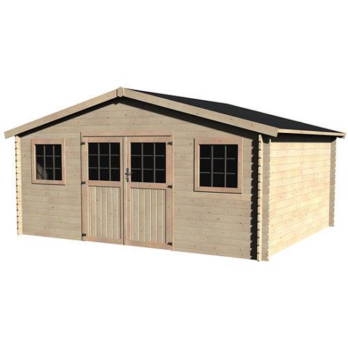 Caseta de madera talma de 509x251x402 cm y 20.48 m2