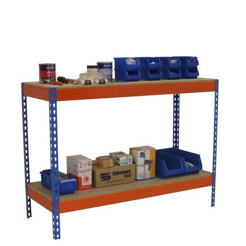 Mesa simonwork basic 2 901845-2 azul/naranja/madera
