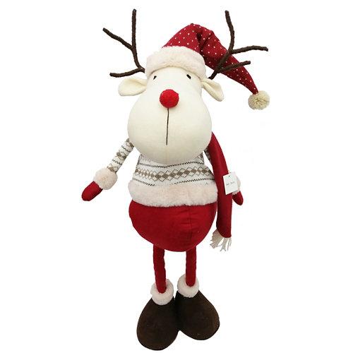 Figura navideña reno flexible 94 cm