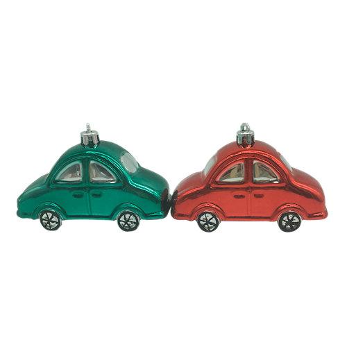 Set de 2 colgantes coches 11,5 cm