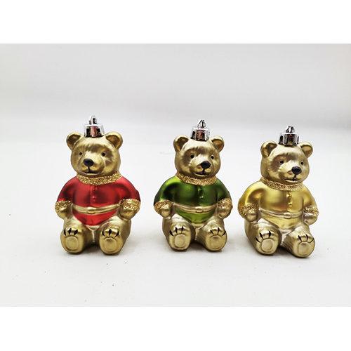 Set de 3 colgantes osos 8, 5 cm