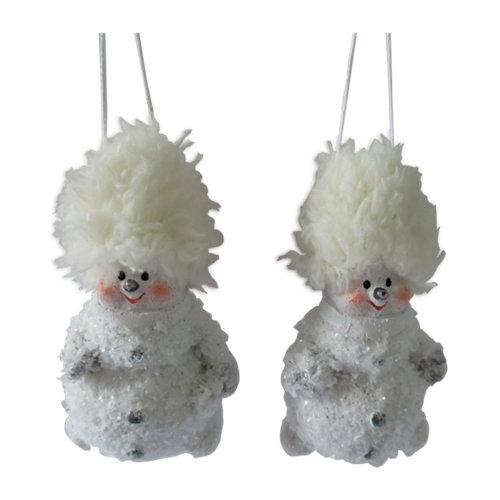 Set de 2 colgantes muñecos 7 cm
