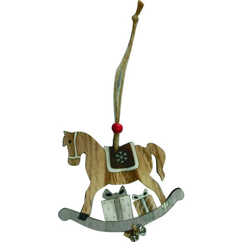Adorno colgante caballo 10 cm