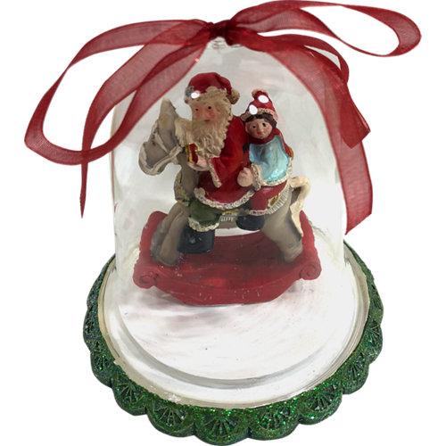 Adorno colgante navidad cristal 8,5 cm