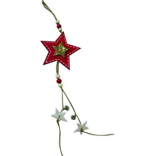 Adorno colgante estrella 40 cm